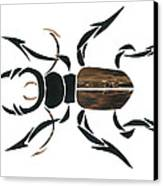 Stag Beetle Going Tribal Canvas Print