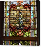 Stained Glass 3 Panel Vertical Composite 02 Canvas Print by Thomas Woolworth