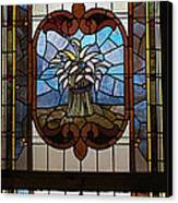 Stained Glass 3 Panel Vertical Composite 04 Canvas Print by Thomas Woolworth