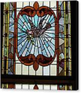 Stained Glass 3 Panel Vertical Composite 05 Canvas Print by Thomas Woolworth