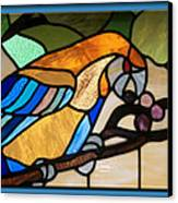 Stained Glass Parrot Window Canvas Print
