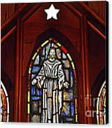 Stained Glass Saviour Canvas Print