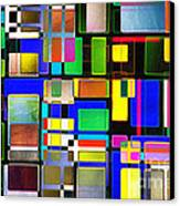 Stained Glass Window II Multi-coloured Abstract Canvas Print by Natalie Kinnear