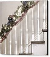 Stairs At Christmas Canvas Print by Margie Hurwich