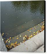 Stairs Leading Into Water Canvas Print by Matthias Hauser