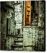 Stairs Leading To The Old Door Canvas Print
