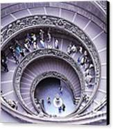 Stairway In Vatican Museum Canvas Print by Stefano Senise