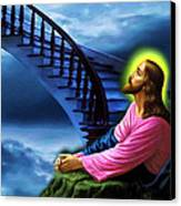 Stairway To Heaven Canvas Print by Karen Showell