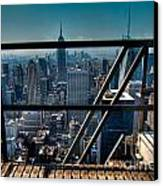 Stairways On Top Of Rockefeller Center Canvas Print by Amy Cicconi