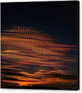 Stamped Sky Canvas Print by Rod Sterling
