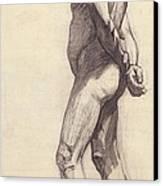 Standing Male Nude Canvas Print by Felix Edouard Vallotton