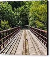 Standing On A Bridge Canvas Print by Jason Brow