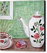 Stangl Pottery Rose Pattern Canvas Print