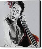 Stanley Clarke Canvas Print by Melanie D