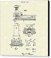 Stapler 1932 Patent Art Canvas Print by Prior Art Design