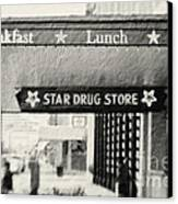 Star Drug Store Marquee Canvas Print