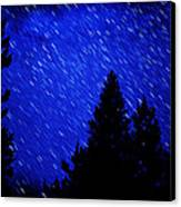 Star Trails In Night Sky Canvas Print