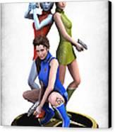 Star Trek - Kirks Angels Canvas Print by Frederico Borges