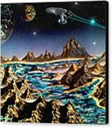Star Trek - Orbiting Planet Canvas Print