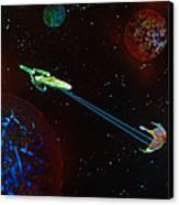 Star Trek -uss Enterprise Canvas Print by Michael Rucker