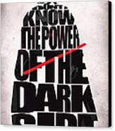 Star Wars Inspired Darth Vader Artwork Canvas Print