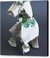 Starbucks Dog Canvas Print