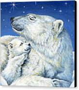 Starry Night Bears Canvas Print by Richard De Wolfe