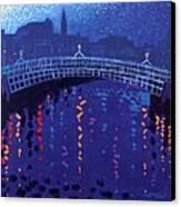 Starry Night In Dublin Canvas Print