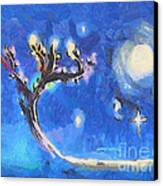Starry Tree Canvas Print by Pixel  Chimp