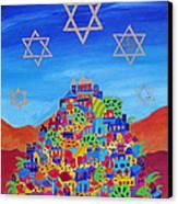 Stars Above Jerusalem Canvas Print