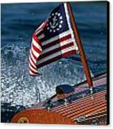 Stars And Stripes Ensign Canvas Print by Steven Lapkin