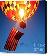 Stars And Stripes Glow Canvas Print by Paul Anderson