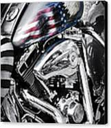 Stars And Stripes Harley  Canvas Print by Tim Gainey