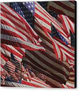 Stars And Stripes - Remembering Canvas Print by Jack Zulli