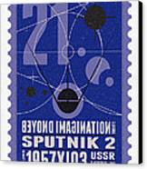 Starschips 21- Poststamp - Sputnik 2 Canvas Print by Chungkong Art
