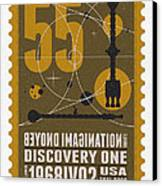 Starschips 55-poststamp -discovery One Canvas Print by Chungkong Art