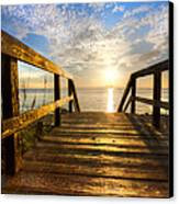 Start Of The Day Canvas Print by Debra and Dave Vanderlaan