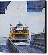 Staten Island Ferry Docking Canvas Print