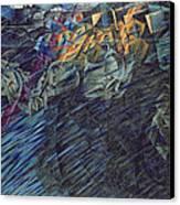 States Of Mind    Those Who Go Canvas Print by Umberto Boccioni
