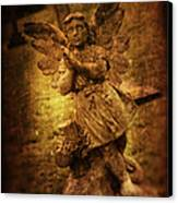 Statue Of Angel Canvas Print by Amanda Elwell