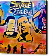 Stay True 2 The Game No 1 Canvas Print by Tony B Conscious