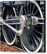 Steam Locomotive Coupling Rod And Driver Wheels Canvas Print