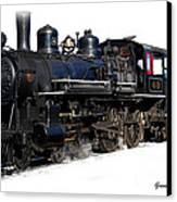 Steam Locomotive Canvas Print by Gunter Nezhoda