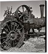 Steam Tractor - Molson Ghost Town Canvas Print by Daniel Hagerman