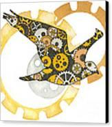 Steampunk Bird Canvas Print by Nora Blansett