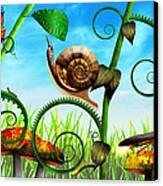 Steampunk - Bugs - Evolution Take Time Canvas Print by Mike Savad