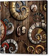 Steampunk - Clock - Time Machine Canvas Print by Mike Savad
