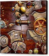 Steampunk - Gears - Reverse Engineering Canvas Print by Mike Savad