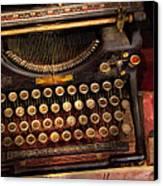 Steampunk - Just An Ordinary Typewriter  Canvas Print