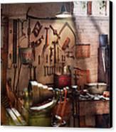 Steampunk - Machinist - The Inventors Workshop  Canvas Print